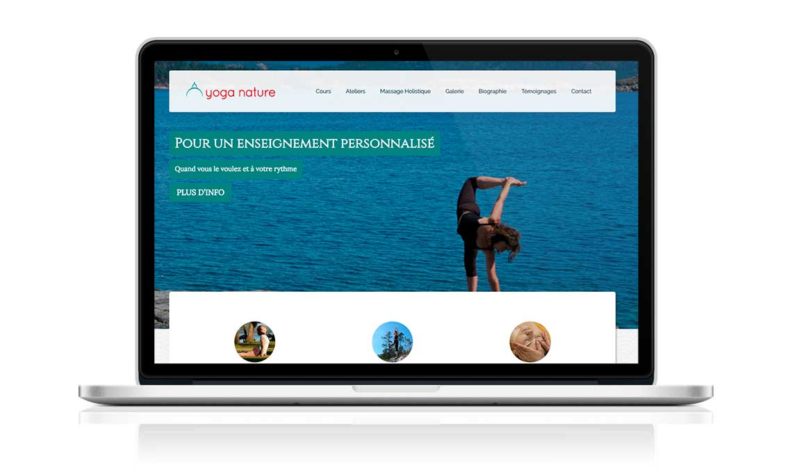 Yoga Nature website